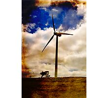 Wind turbine with texture Photographic Print