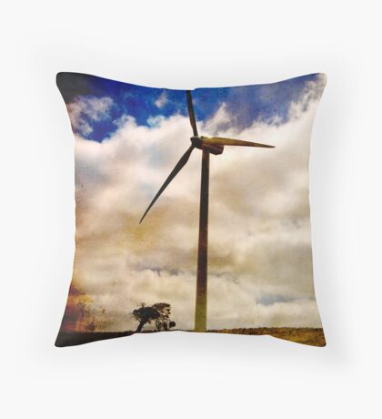 Wind turbine with texture Throw Pillow