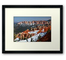 Bryce Canyon with Snow Framed Print