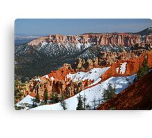 Bryce Canyon with Snow Canvas Print