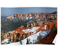 Bryce Canyon with Snow Poster
