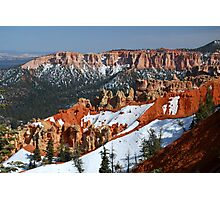 Bryce Canyon with Snow Photographic Print