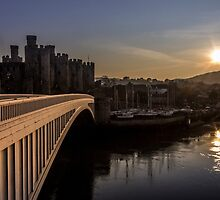 Conwy at sunset by Paul Madden