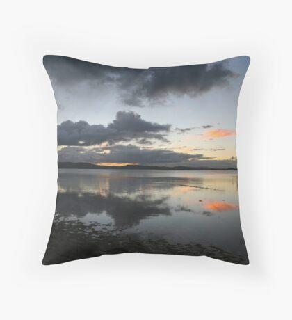 Wallis Lake mirror Throw Pillow