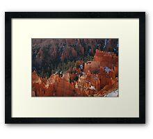 Rich Russet Red Framed Print