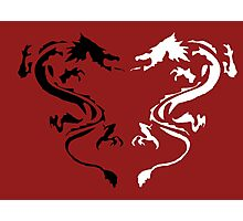 Double Dragon Black and White Photographic Print