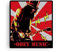 Obey slash Canvas Print