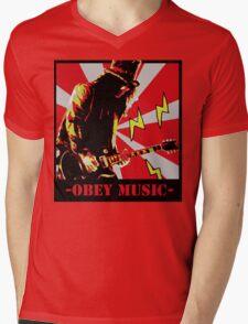 Obey slash Mens V-Neck T-Shirt