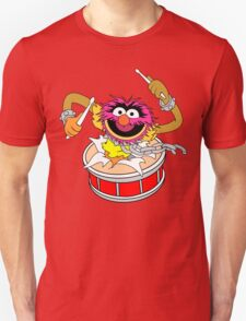 Animal crashing through drums Funny Geek Nerd T-Shirt