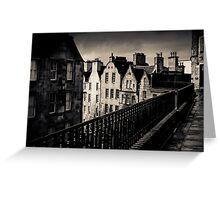 Black And White Edinburgh Greeting Card