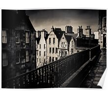 Black And White Edinburgh Poster