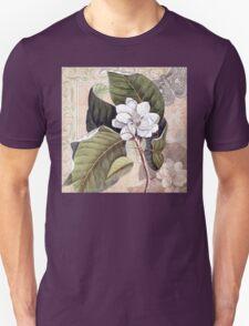 Antique Magnolia Collage T-Shirt