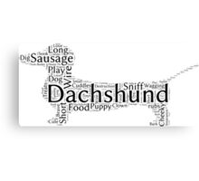 Describe a dachshund Canvas Print