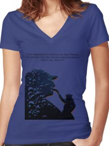 holmes Women's Fitted V-Neck T-Shirt