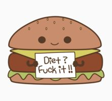 diet ? not for me - Diet and Hamburger ! Kids Clothes