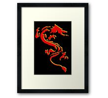 Double Dragon Red andYellow Framed Print
