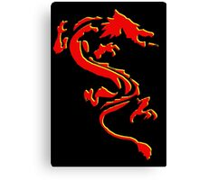 Double Dragon Red andYellow Canvas Print