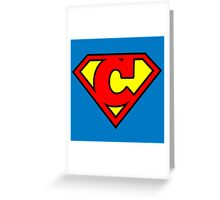 Super C Greeting Card