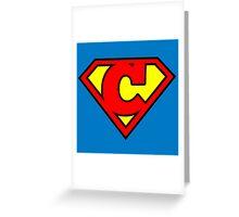 Super C Greeting Card