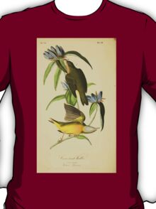 James Audubon Vector Rebuild - The Birds of America - From Drawings Made in the United States and Their Territories V 1-7 1840 - Connecticut Warbler T-Shirt