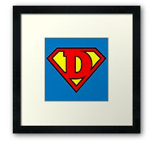 Super D Framed Print