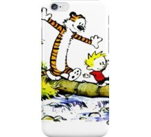 Calvin and hobbes funny Time iPhone Case/Skin
