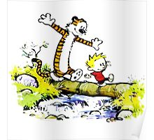 Calvin and hobbes funny Time Poster