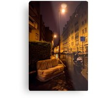Couch in the street Metal Print