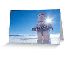 There isn't enough life on this ice cube to fill a space cruiser Greeting Card