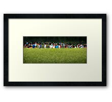 say cheese please Framed Print