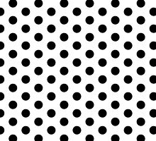 Black and White Dalmatian Polka Dot Duvet Bedspread by deanworld