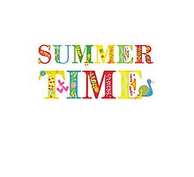 summer time (happy type) Photographic Print