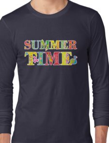 summer time (happy type) Long Sleeve T-Shirt