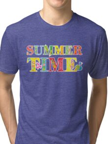 summer time (happy type) Tri-blend T-Shirt