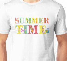 summer time (happy type) Unisex T-Shirt