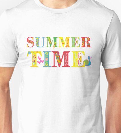 summer time (happy type) Unisex T-Shirt