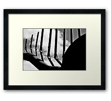 Clouds and a little something Framed Print