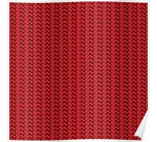 Red knitted pattern.  Poster