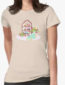 Afternoon Tea with cupcakes Womens Fitted T-Shirt