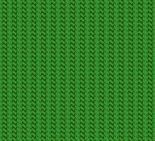 Green knitted pattern.  by artredppb