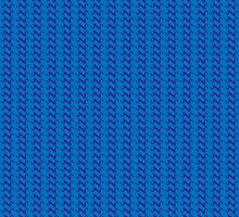 Blue knitted pattern.  by artredppb
