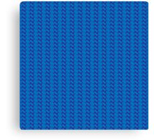 Blue knitted pattern.  Canvas Print