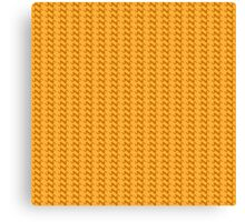 Yellow knitted pattern.  Canvas Print
