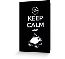 Keep Calm And zzz - Tshirts & Hoodies Greeting Card