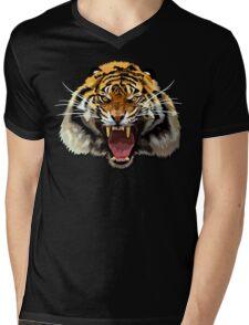 Tiger Roar Digital art Painting Mens V-Neck T-Shirt