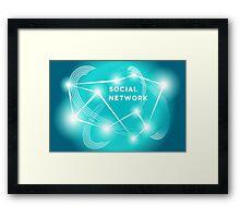 Social Network.  Framed Print