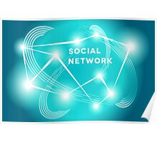 Social Network.  Poster