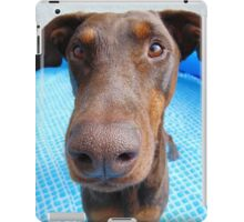 Cute red doberman iPad Case/Skin