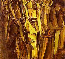 Jeanne Homme triste dans un train by Marcel Duchamp by troycap