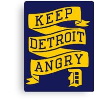 Keep Detroit Angry Canvas Print